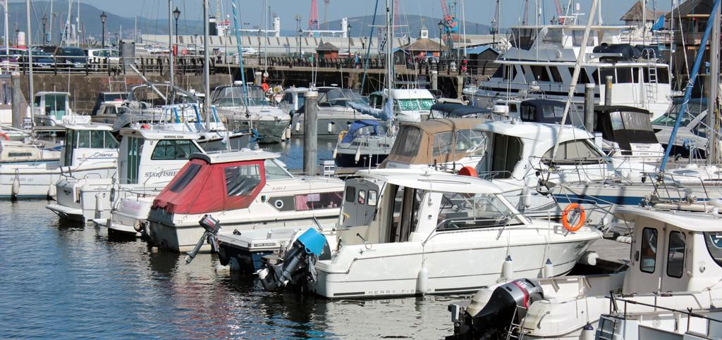 Boats in Swansea Marina