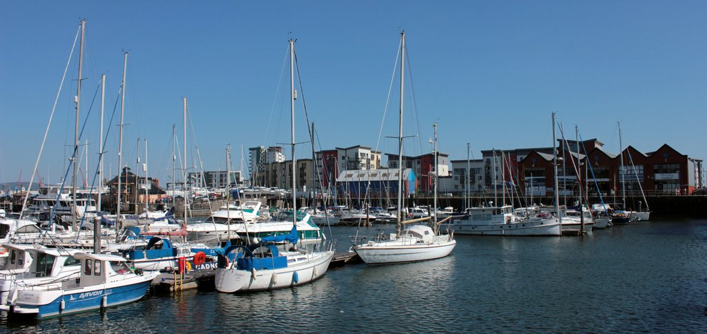 Boats in Swansea Marina