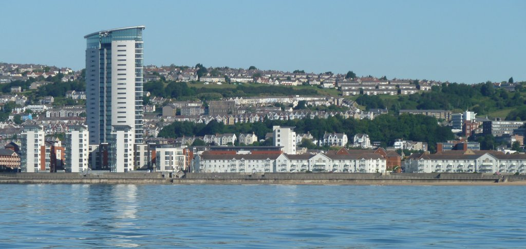 Swansea Maritime Quarter from the sea