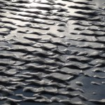 Water ripples on sand